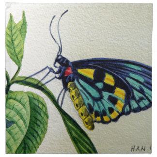 Mariposa 3 jardín pintura de la acuarela arte servilleta de papel