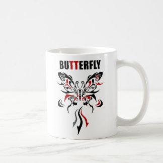 mariposa 3 taza básica blanca