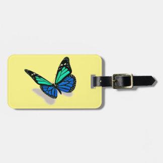 mariposa 3D Etiquetas Maletas