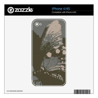 Mariposa 4 iPhone 4S calcomanías