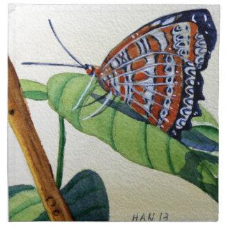 Mariposa 4 jardín pintura de la acuarela arte servilleta de papel