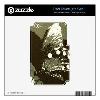 Mariposa 5 calcomanías para iPod touch 4G