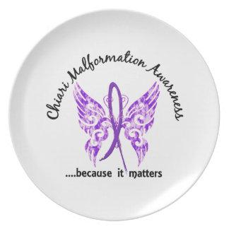 Mariposa 6,1 de la malformación de Chiari Plato De Comida