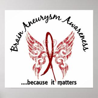 Mariposa 6,1 del Aneurysm del cerebro Póster