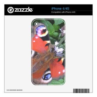 Mariposa 6 skins para eliPhone 4S