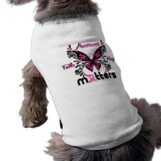 Mariposa 7 del cáncer de pecho ropa perro