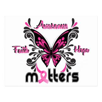 Mariposa 7 del cáncer de pecho postal