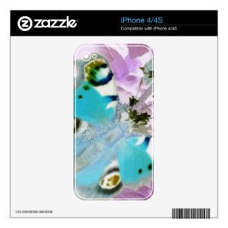 Mariposa 7 iPhone 4S calcomanía