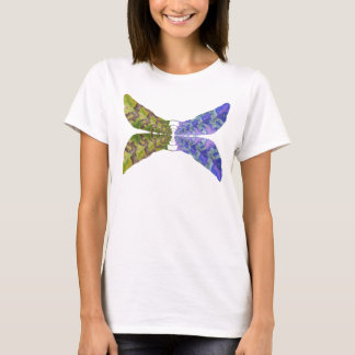 Mariposa abigarrada de la hoja playera