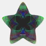 Mariposa abstracta 2 calcomania forma de estrella