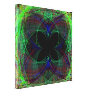 Mariposa abstracta 2 impresiones de lienzo