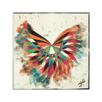 Mariposa abstracta 2 lona estirada galerias