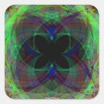 Mariposa abstracta 2 pegatina cuadradas personalizada