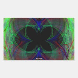 Mariposa abstracta 2 pegatinas
