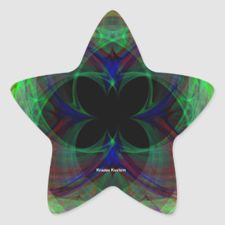 Mariposa abstracta 2 calcomanía forma de estrella