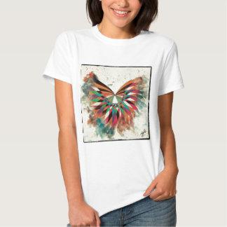 Mariposa abstracta 2 playeras