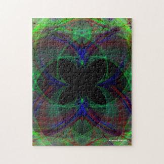 Mariposa abstracta 2 puzzle