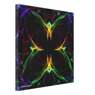 Mariposa abstracta 3 impresiones en lienzo estiradas