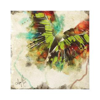 Mariposa abstracta 3 lona estirada galerías