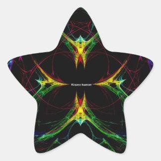 Mariposa abstracta 3 colcomanias forma de estrellaes personalizadas