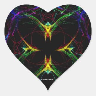 Mariposa abstracta 3 calcomania de corazon personalizadas
