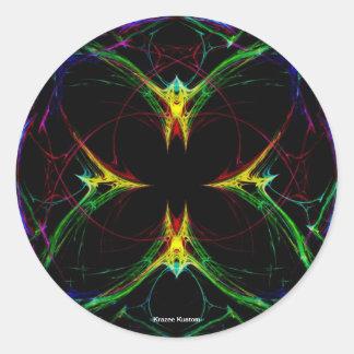 Mariposa abstracta 3 pegatinas