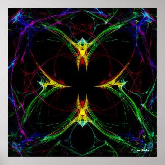 Mariposa abstracta 3 póster