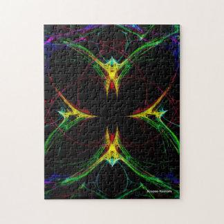 Mariposa abstracta 3 puzzles