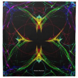 Mariposa abstracta 3 servilletas de papel