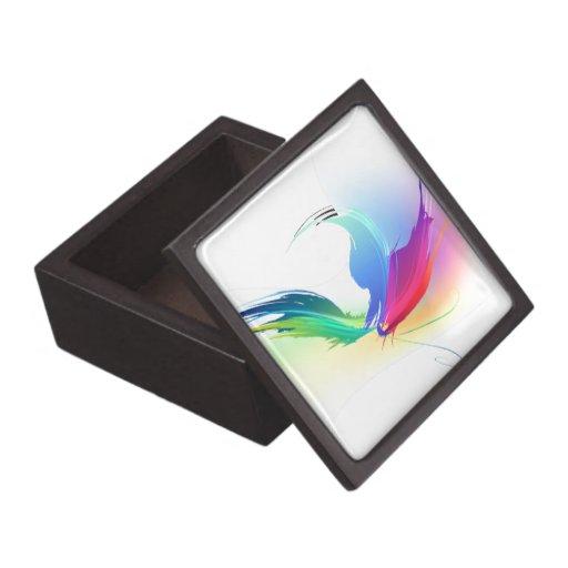 Mariposa abstracta de la salpicadura de la pintura cajas de joyas de calidad