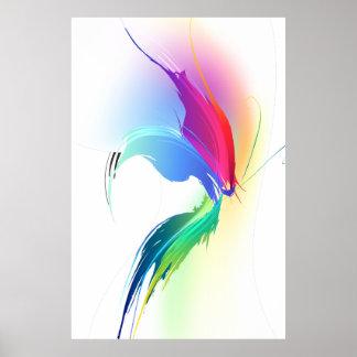Mariposa abstracta de la salpicadura de la pintura impresiones