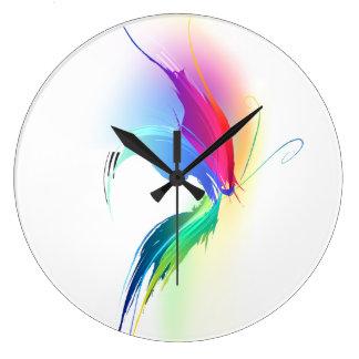 Mariposa abstracta de la salpicadura de la pintura reloj