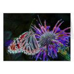 Mariposa abstracta en tarjeta del arte de la natur