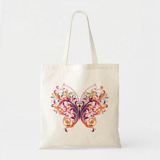 Mariposa abstracta hermosa bolsa tela barata