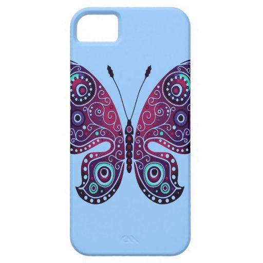 Mariposa abstracta iPhone 5 fundas