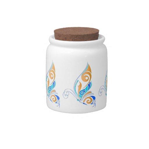 Mariposa abstracta jarra para caramelo