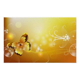 Mariposa abstracta poster
