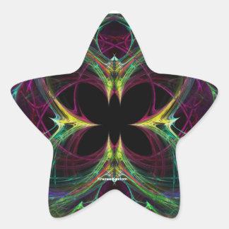 Mariposa abstracta calcomanías forma de estrellaes