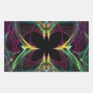Mariposa abstracta pegatina
