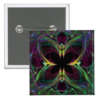 Mariposa abstracta pin