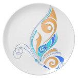 Mariposa abstracta platos