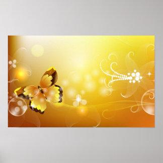 Mariposa abstracta póster