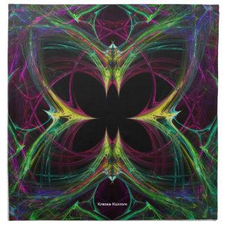 Mariposa abstracta servilletas