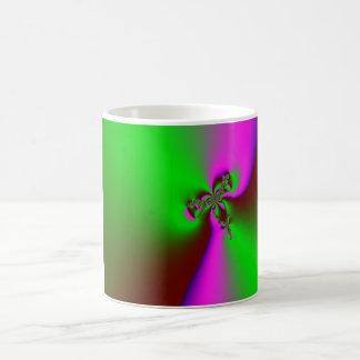 Mariposa abstracta taza