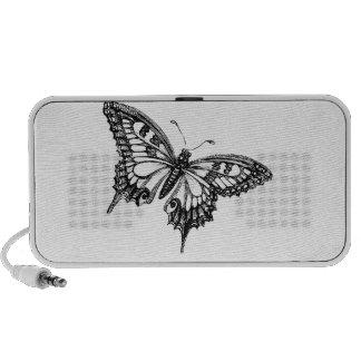 mariposa iPod altavoz