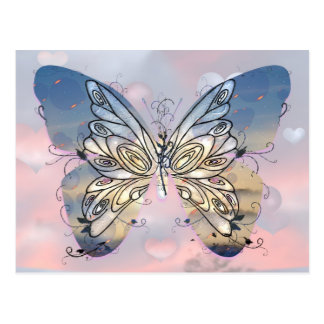 Mariposa altísima postales