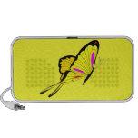 Mariposa amarilla 11 altavoz de viajar
