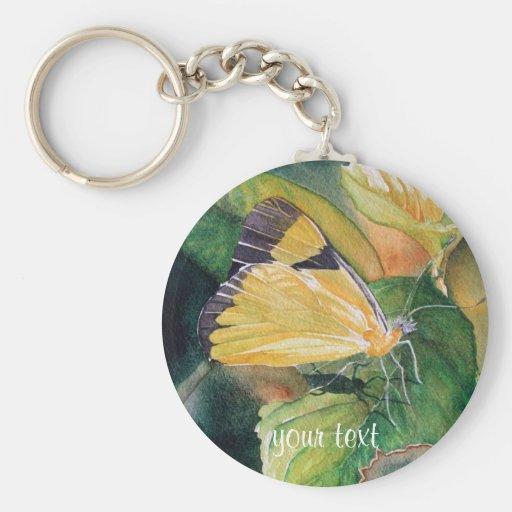 Mariposa amarilla brasileña llaveros