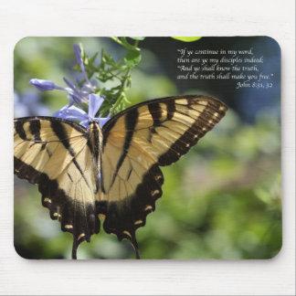 Mariposa amarilla de Juan 8 Swallowtail Tapetes De Ratón