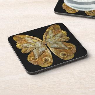 Mariposa amarilla de Steampunk del duendecillo Posavasos